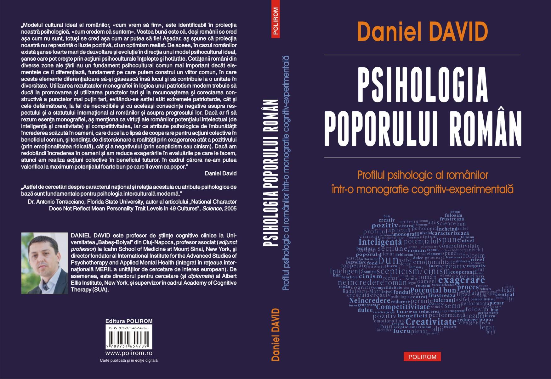 Psihologia poporului roman - Coperta